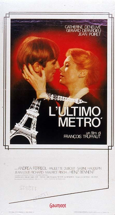 Titolo originale: Le dernier metro Durata :130' Anno :1980 Produzione :Francia Regia : François Truffaut Cast: Catherine Denevue, Jean Poiret, Heinz Bennent, Andrea Ferreol, Gerard Depardieu