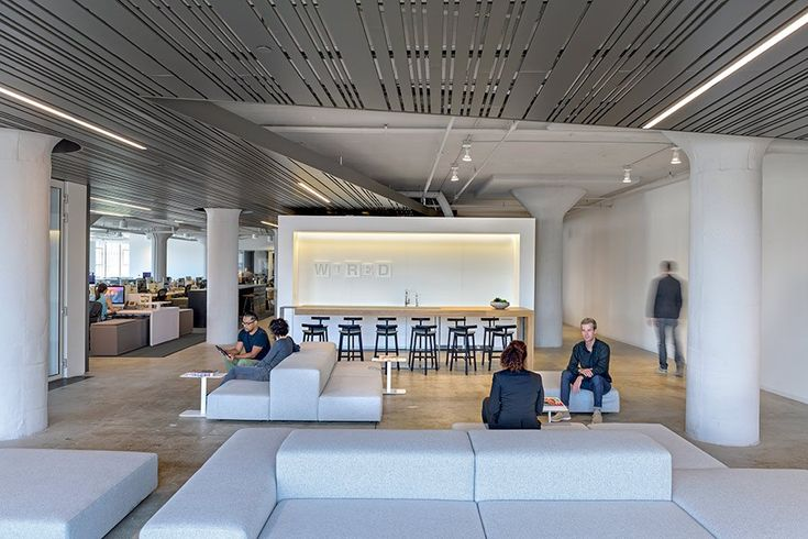 Wired's new offices, designed by Gensler, provide a variety of communal spaces for working and socializing.