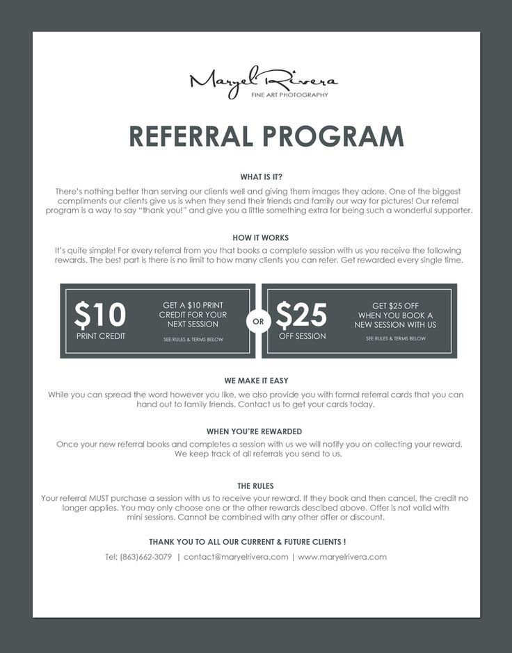 Referral Program | Maryel Rivera Photography | Earn Free Prints or Session…