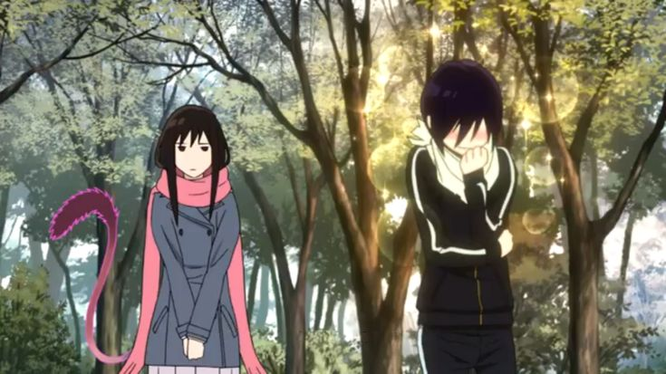 Yato and Hiyori meet in the park