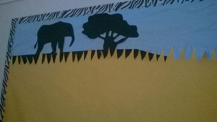 Elephant in Africa board