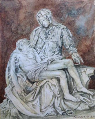 The Pieta ( Michaelangelo) - miniature