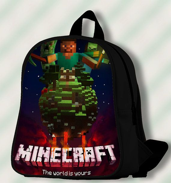 Minecraft the World is Yours  Custom by SmileSchoolBags on Etsy