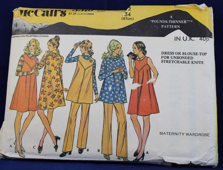 Vintage Sewing Pattern for a Woman's Maternity Outfit in Size 12 - McCall's 3319 by TheVintageSewingB on Etsy