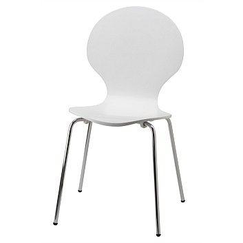 Briscoes - Bentwood Nouveau White Chair