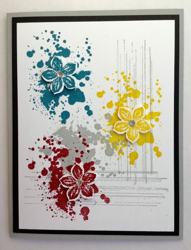 """Inkinbythebay - A Creative Place to Play!: """"Pinterest or Original"""" Once Again gorgeous grunge card petite petals"""