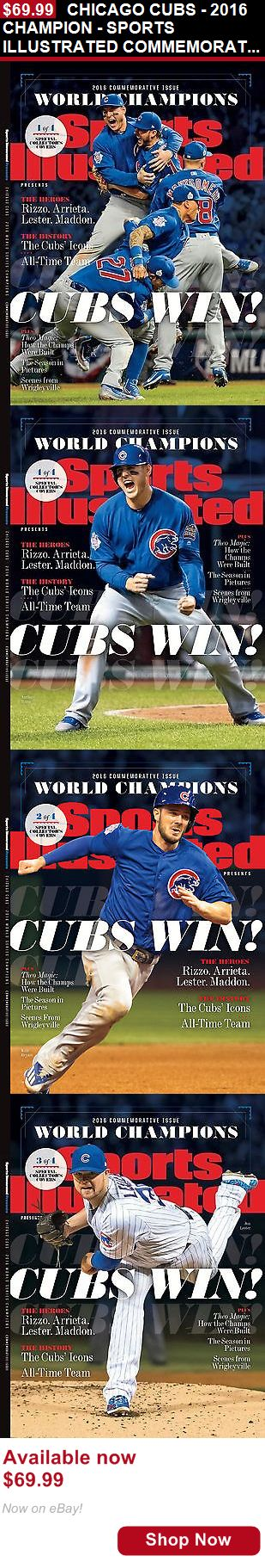 Magazine Back Issues: Chicago Cubs - 2016 Champion - Sports Illustrated Commemorative Set Of 4 Issues BUY IT NOW ONLY: $69.99