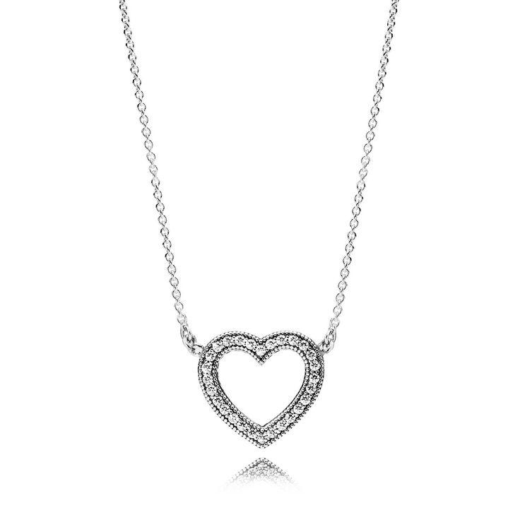 Loving Hearts of PANDORA Necklace, Clear CZ ✌▄▄▄>>>>>>Pandora Jewelry 80% OFF! $10~$200 >>>Visit>> http://pandoraonsale.site/ ✌▄▄▄