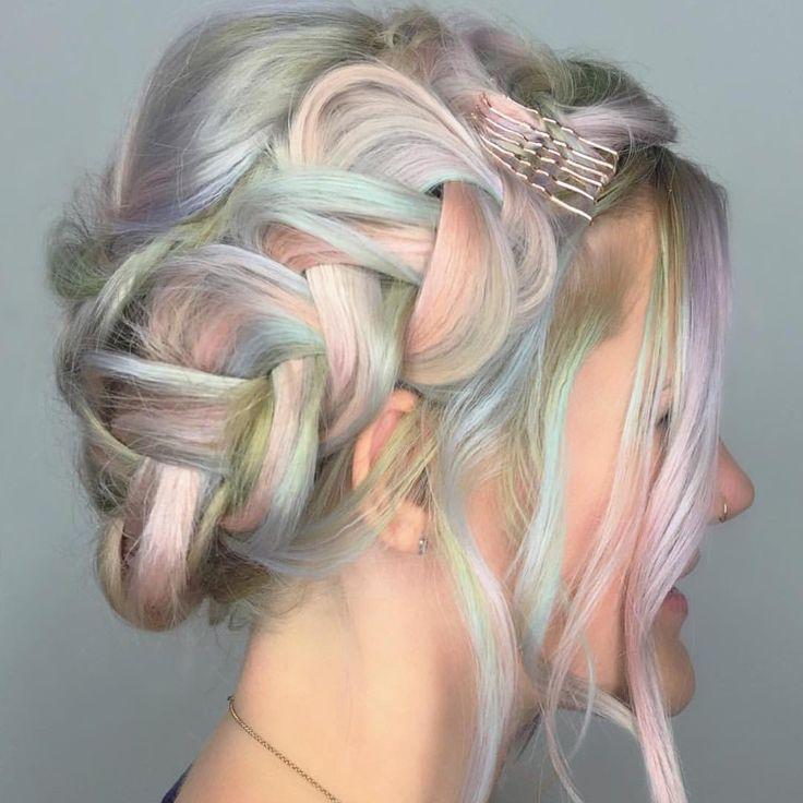 """Opal braid by @shelleygregoryhair Gorgeous work Shelley! #hotonbeauty #hothairvids"""