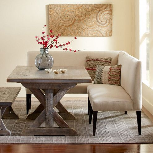 Best 25 settee dining ideas on pinterest formal dinning for Dining room table with couch