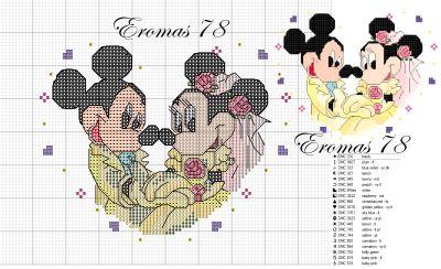 Mickey & Minnie - bride & groom