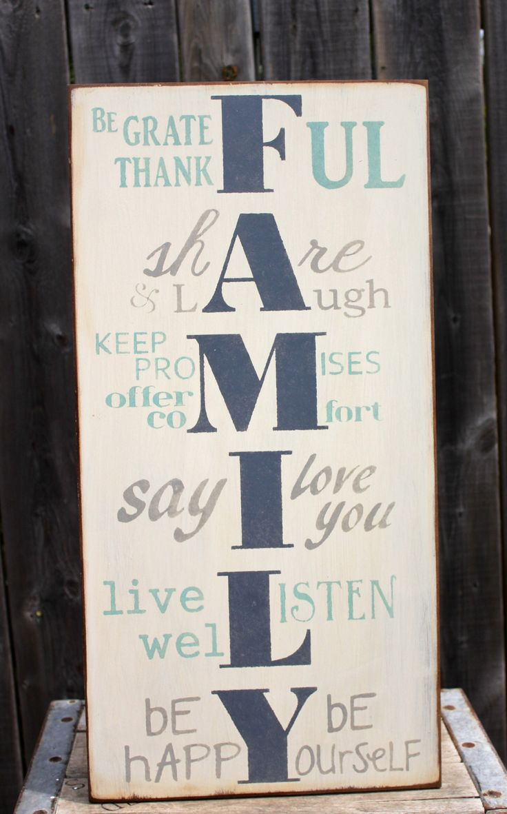 FAMILY sign made by The Primitive Shed, St. Catharines