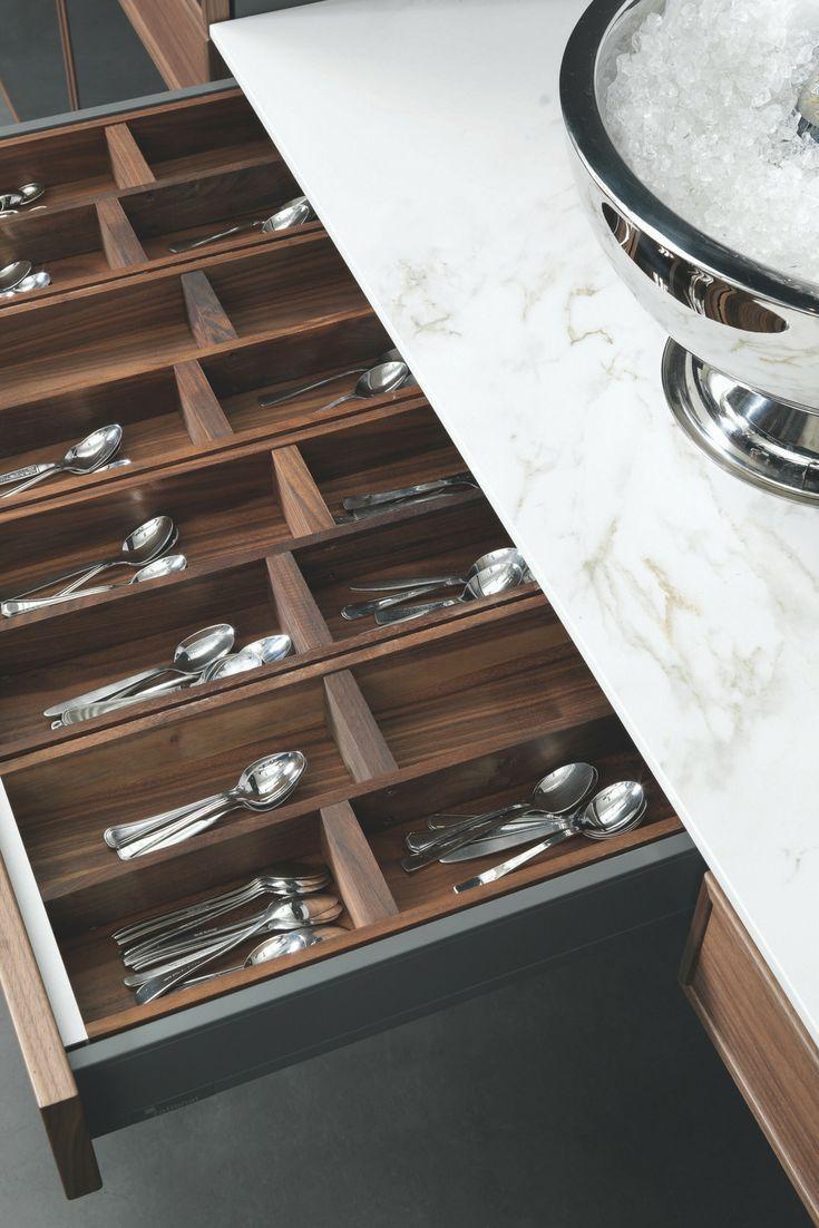 Besteckschublade, Holz, Besteck, Einsatz, Schublade, Küche,  Küchenschublade, Schrank,