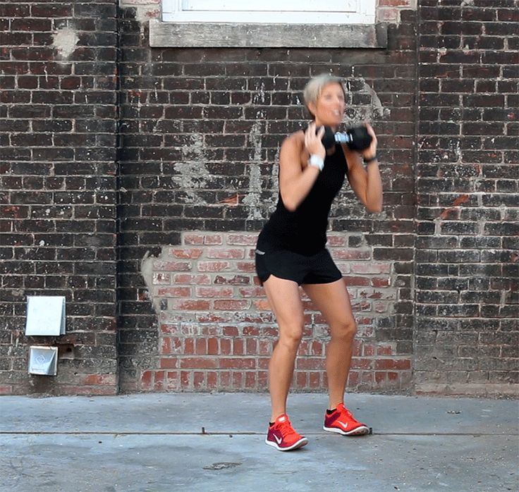 Weighted Squat Into Curtsy Lunge - Steal these moves from Carrie Underwood's personal trainer