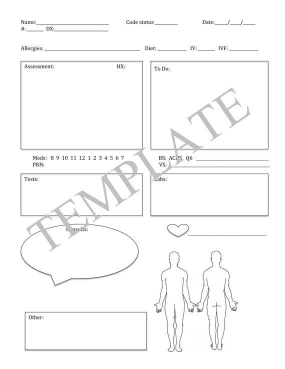 RN Report sheet  RN  Nurse  report sheet  med surg by hellowhimsyy