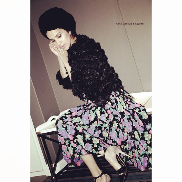 Personal Style Lookbook  #Turban and #FauxFur #Vintage Skirt