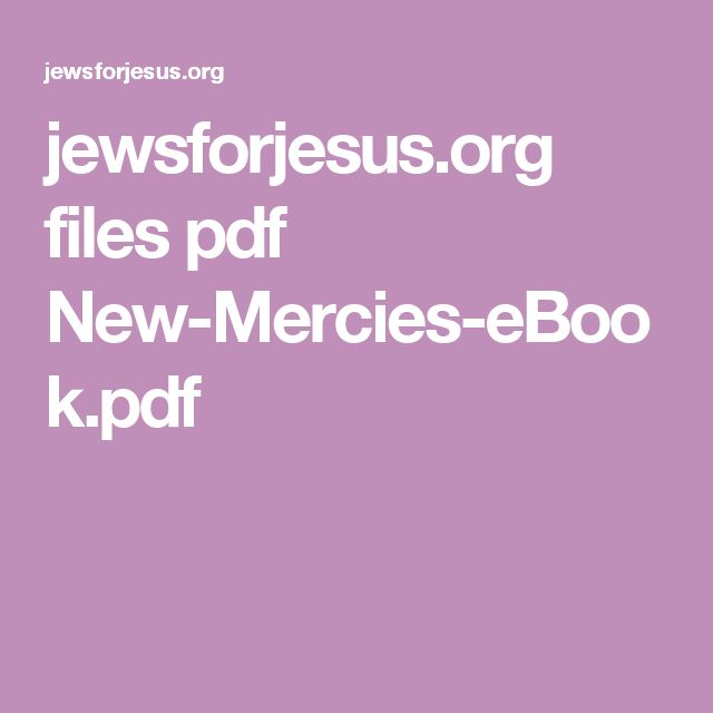 jewsforjesus.org files pdf New-Mercies-eBook.pdf
