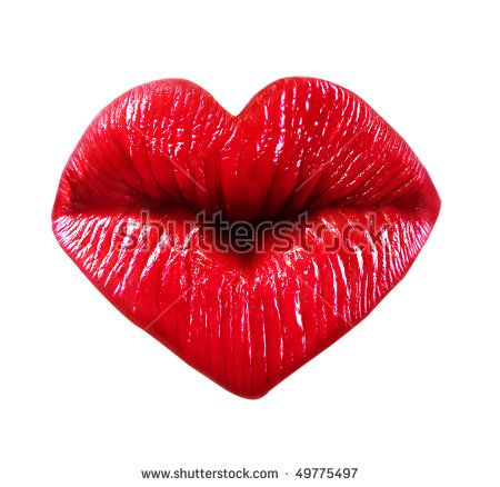 Images of Kissing Lips Kissing Lips Isolated Over