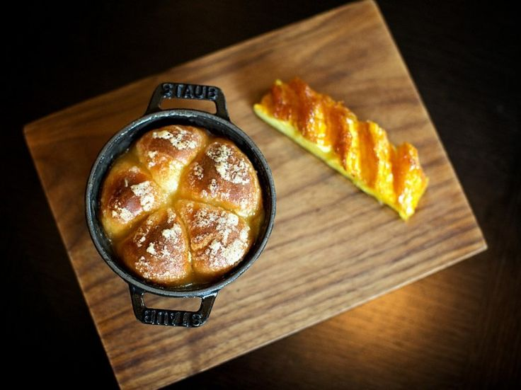 Tipsy Cake with flame grilled, rum basted pineapple at Dinner by Heston Blumenthal in London