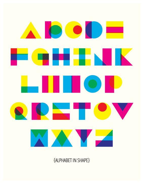 Modern Alphabet in Shape by ModernSouth on Etsy, $24.00