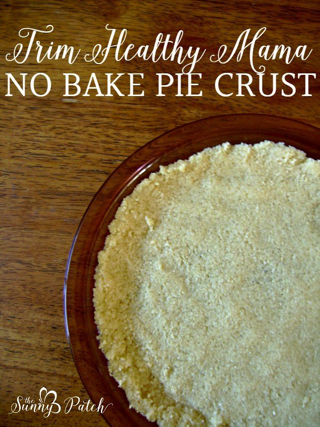 Dessert on the Trim Healthy Mama plan? Yes! This Trim Healthy Mama No Bake Pie Crust is an easy recipe that comes together in no time flat!