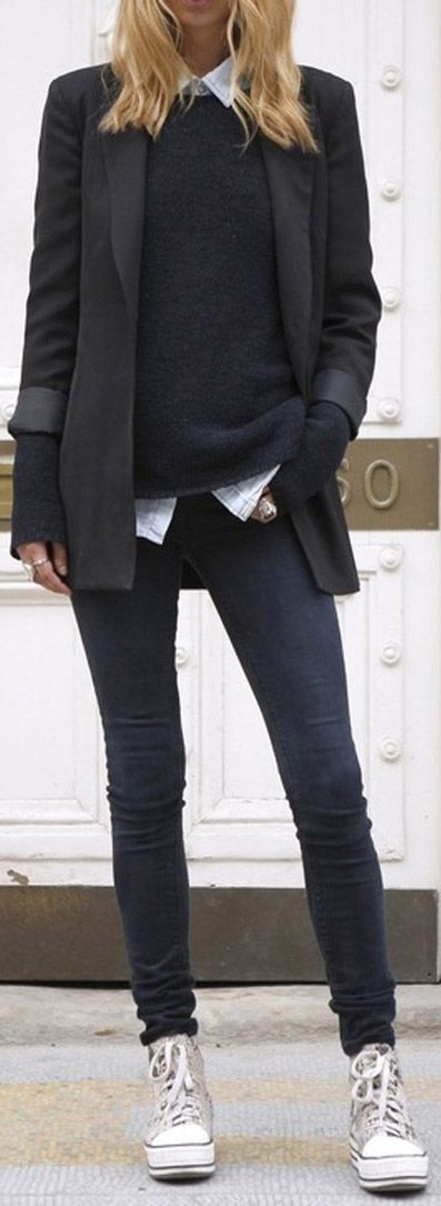 The blazer & layers seems restrictive... but I like the MIX that's happening re styles you wouldn't expect