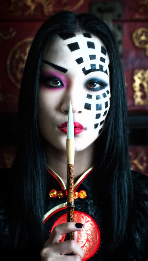 SINISTER KABUKI By Derek Galon Via 500px | Face Painting | Pinterest | Beautiful Mulan And ...
