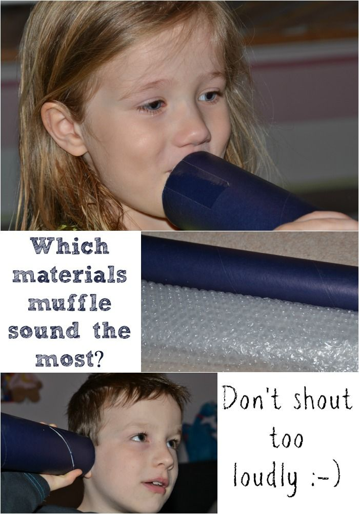 Find out which materials muffle sound the most in this fun activity #Science
