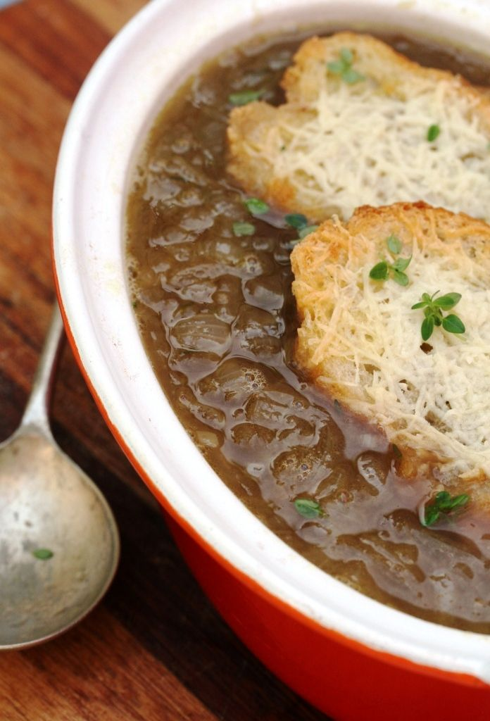 ... | Soup with ham, French onion soups and Loaded baked potato soup