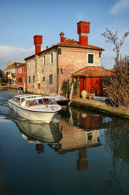 Torcello, Veneto, Italy, province of Venezia , VenetoTorcello, steeped in Venetian history, was home to one of the swampy region's first settlements; features a Byzantine church, bell tower with lagoon views, and a small museum.