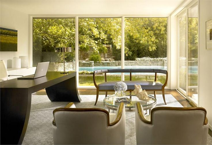 Sunny Contemporary Home Office by Gary Lee