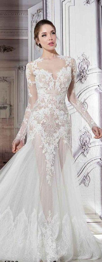 Pnina Tornai sheer wedding dress