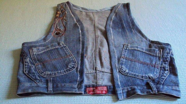 Vest from old jeans