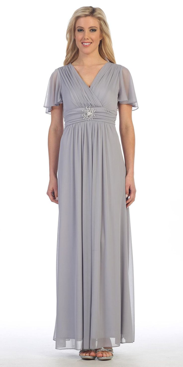 Best 25 silver maternity dresses ideas on pinterest maternity long v neck semi formal dress silver chiffon matt jersey short sleeve ombrellifo Gallery