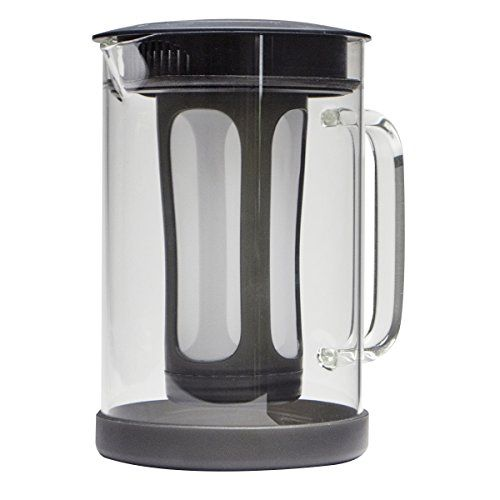 Primula Pace Cold Brew Coffee Maker - Drip Proof Lid and Filter Core - Makes 65% Less Acidic Coffee Than Heat Brewed Coffee - 100% BPA PVC Phthalate and Lead Free - 51 Ounces - Black
