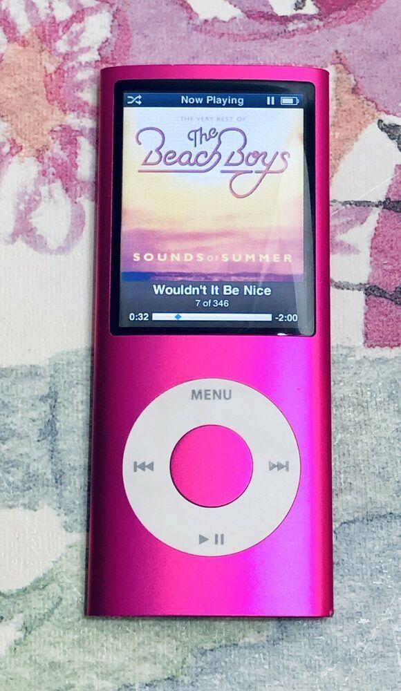 Apple Ipod Nano 4th Generation Pink 8 Gb Loaded With Songs 885909258406 Ebay Ipod Nano Ipod Tween Girl Gifts