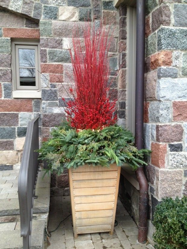 Building A Winter Arrangement Winter Planter Outdoor