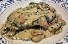 To try when on Atkins: FLORENTINE CHICKEN ALFREDO - LowCarb ATKINS Induction Friendly Recipe