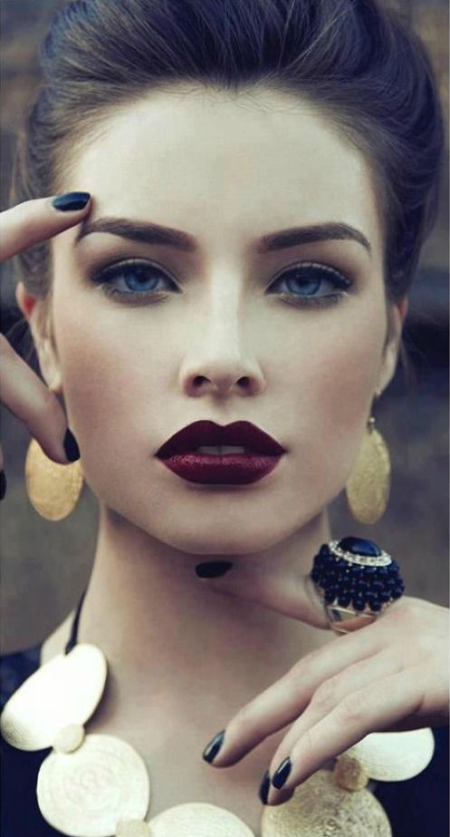 Beautiful Dark Red Lipstick.... How do I make this work for me ?!?