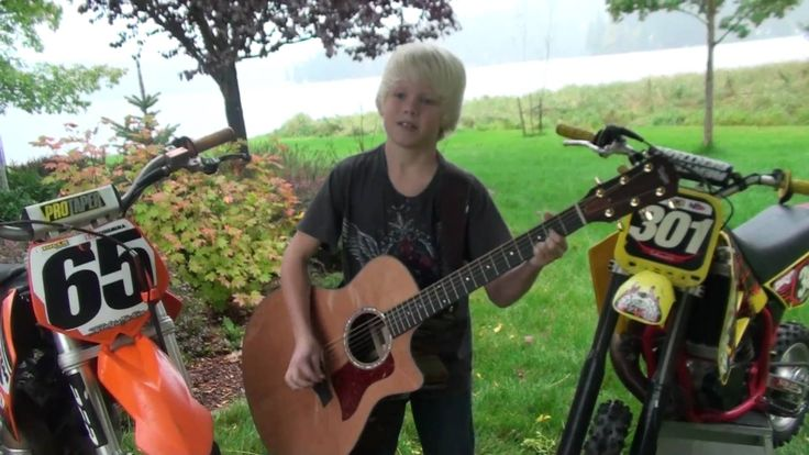 "Carson Lueders, age 9, original song ""Motocross High"" (+playlist)"