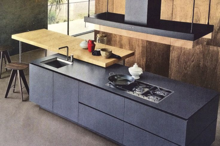 cantilevered kitchen cutting board