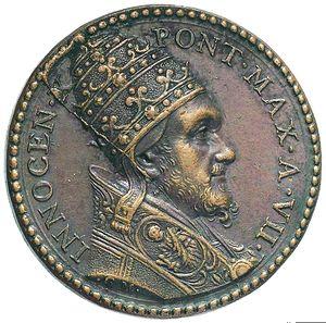 Artemide Aste - Asta XXVI: 1263 - Innocenzo X (1644-1655). Medaglia A.VII per il Giubileo - Dea Moneta