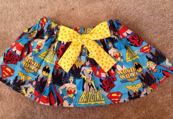 Wonder women Super Hero superman outfit baby girl skirt by MM4CC