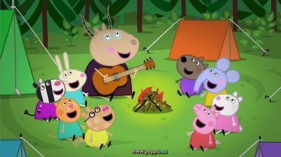 Peppa Pig in campeggio con Madame Gazzella e i suoi amici