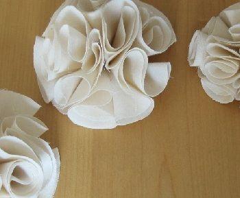 Stoff-Blüten