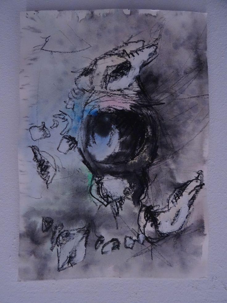 ecoline ink on paper