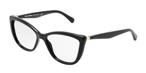 Dolce & Gabbana Occhiali da vista: modello DG 3138 per la Collezione Donna. Montatura Nera a Occhi di Gatto. Materiale: Plastica.