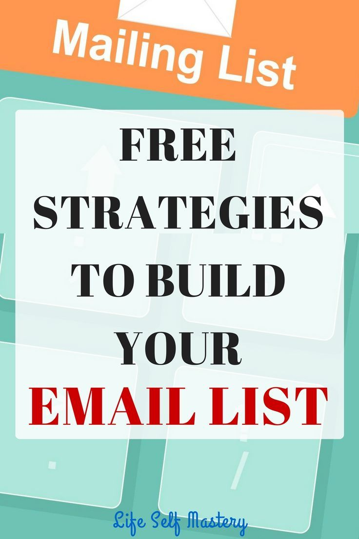 What are the free strategies to build your email list? Click here to find the free strategies to build your email list.