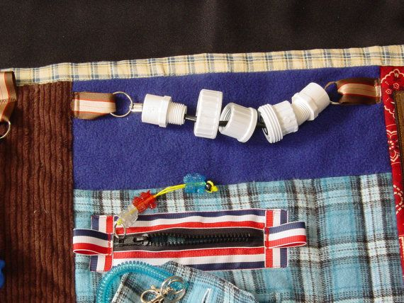 Busy Man Fidget Quilt Tactile Fun by EndearingDignite on Etsy