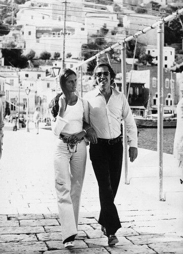 1972 - Cardiac surgeon Christiaan Barnard and his wife Barbara Zoellner in Hydra
